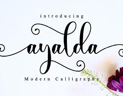 FREE | Ayalda Elegant Modern Calligraphy