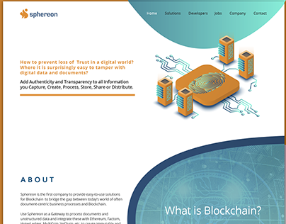 Landing page design for Sphereon