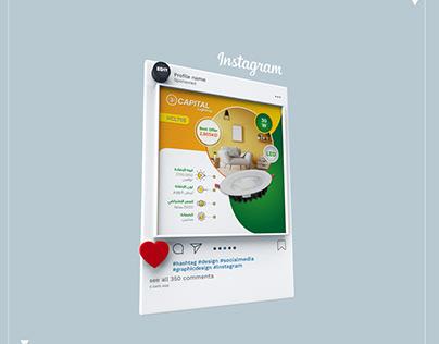 Instagram advertisement design