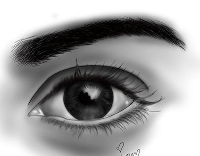 Digital Painting of my Eye series