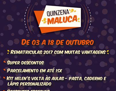Quinzena Maluca - Helen's Idiomas -Rede Social Facebook