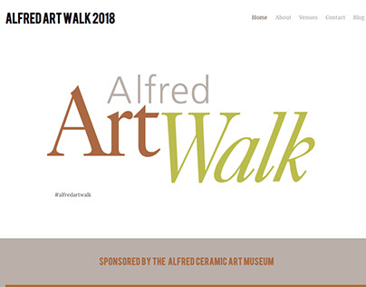 Alfred Art Walk 2018 - Website Layout and Copy