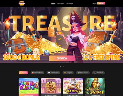 PirateChest Casino Landing Page