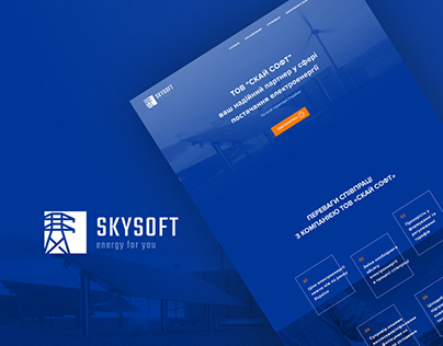 Skysoft / Re-design website + Logo