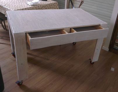 Activity table from recycled wood pallets