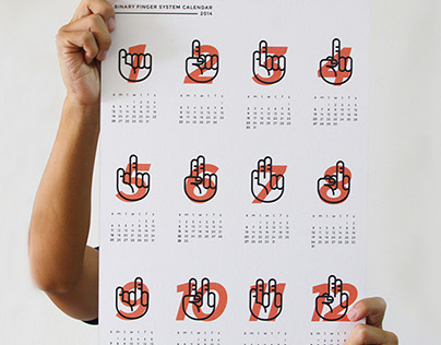 Binary Fingers Calendar