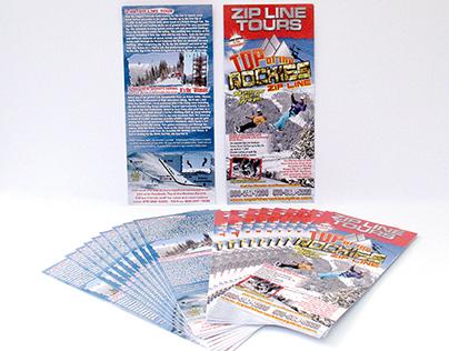 2014 Top of the Rockies Zip Line Rack Card