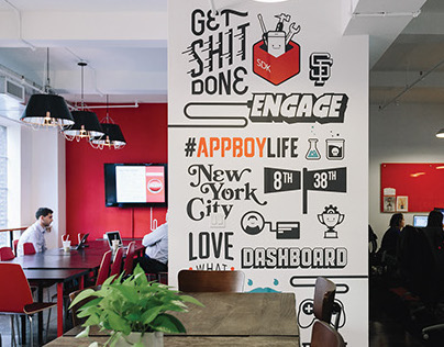 Appboy Office Mural