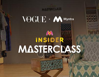 Vogue x Myntra Masterclass | UI UX microsite