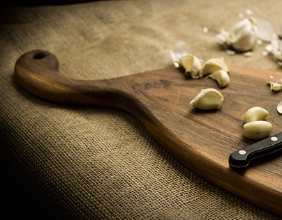 Handmade cutting boards photography