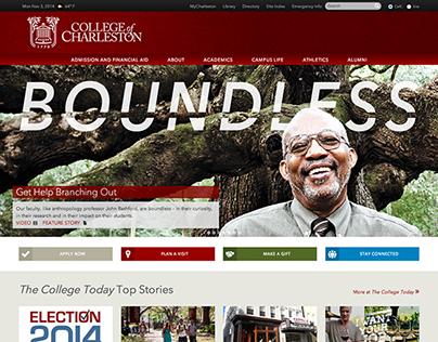 College of Charleston Website Update: Nov 2014