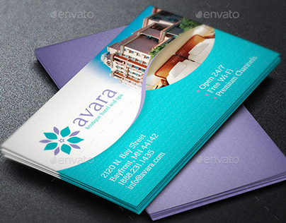 Hotel business card template on behance colourmoves Images