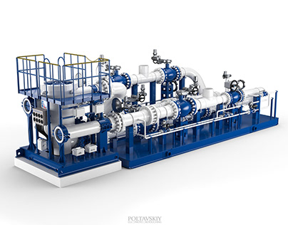 Turbine Expander - CGI & Retouching