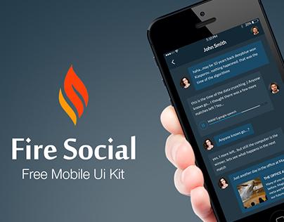 Fire Social App - Free Mobile UI Kit
