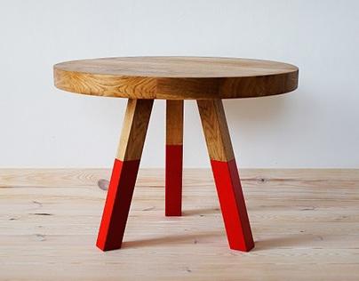 Coffee table, Red Oak