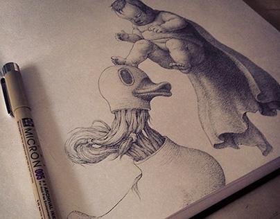 ink drawings (artsy fartsy shmartsy)