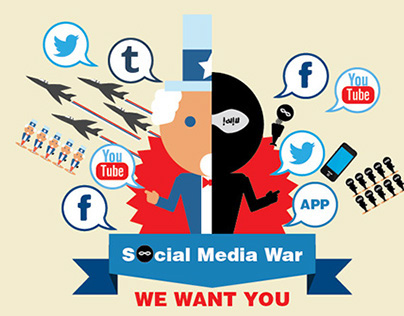 Social Media War Infographic
