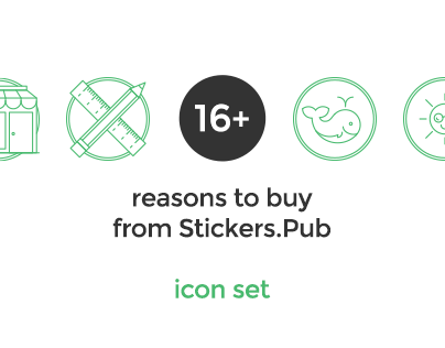 16+ reasons to buy from stickers.pub icons designs