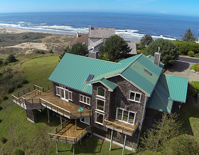 Aerial Photo of House
