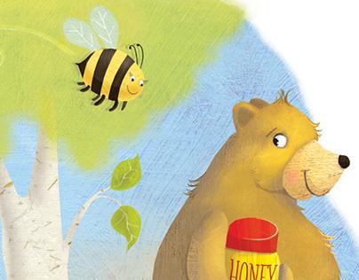 Bee following bear - Self promotional