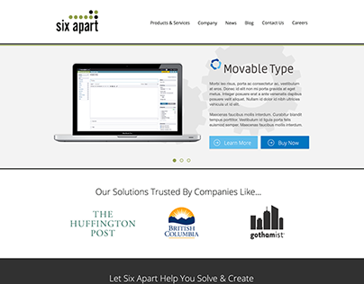 Six Apart Corporate Site Redesign