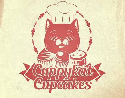 Cuppykat Cupcake Logo Design