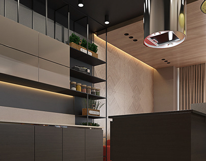 Contemporary Interior of one-room apartments