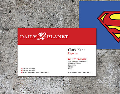 Superhero Business Cards