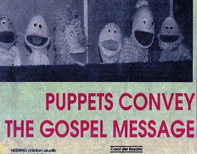 Puppets convey the Gospel Message