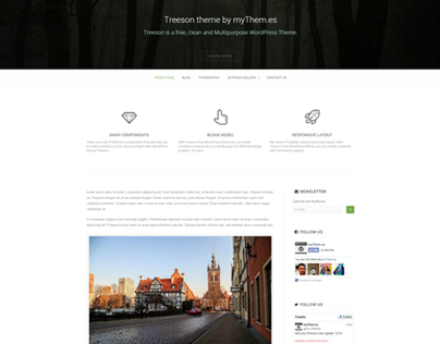 Treeson free Responsive WordPress Theme by myThem.es