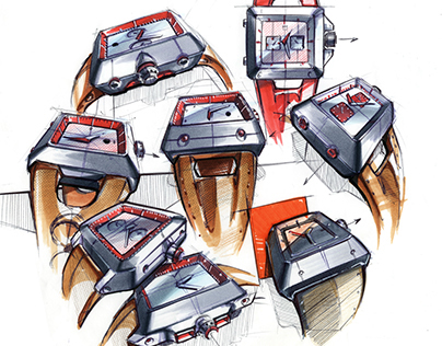 Watches - Marker sketches