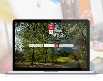 Srce Slovenije; intro & tourism page