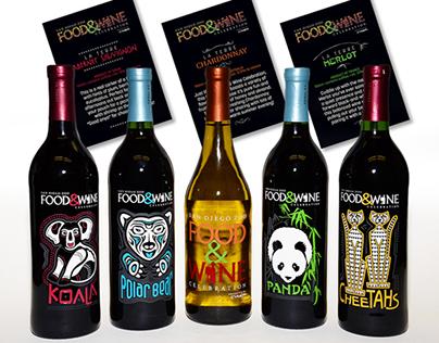 San Diego Zoo Food & Wine Celebration Etched Bottles