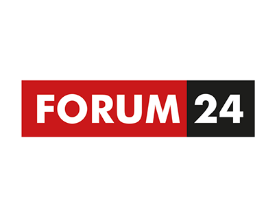 Logo for new Czech internet news server FORUM 24