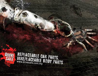 Replaceable Car Parts, Irreplaceable Body Parts