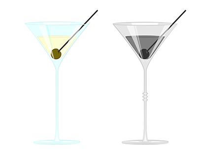 Martini Glass Illustration