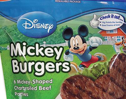Disney Mickey Burgers Packaging