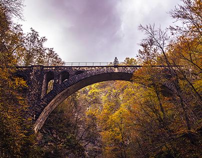 Old Railway Bridge in Autumn