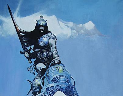 Frank Frazetta's The Silver Warrior repaint