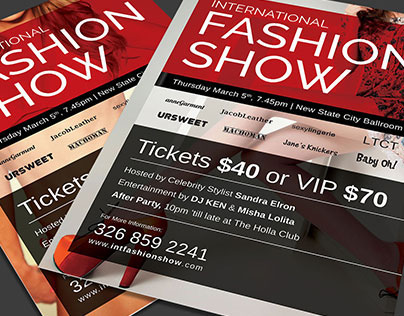 Fashion Show Promotional Flyer