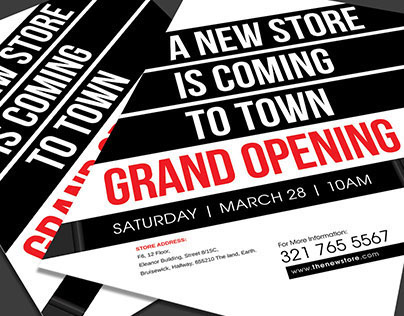 New Store Grand Opening Flyer