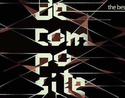Tipografia 'deconstruct'.