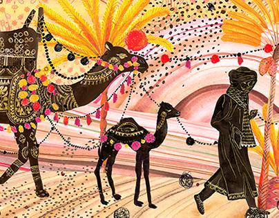 Silk Scarf designs for Monsieur Fox