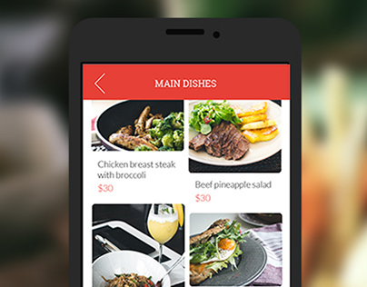 UX/UI design for Cool tablet menu for restaurants