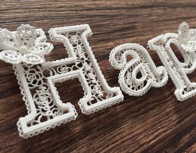 Paper Cut Letters.