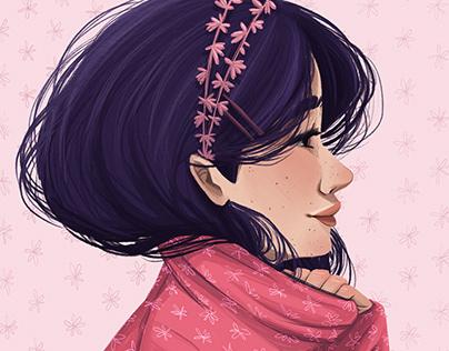 Pink jumper Lady