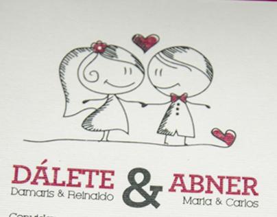 Convite Casamento Abner e Dálete