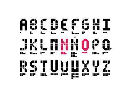 Pixelated stripes font