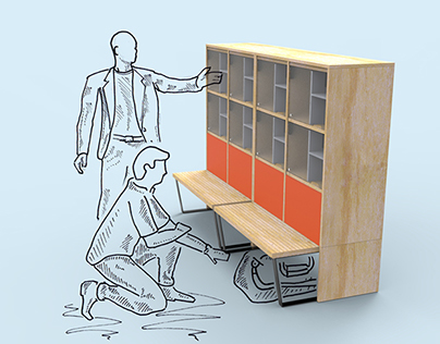 Entry Cubbies for Herman Miller