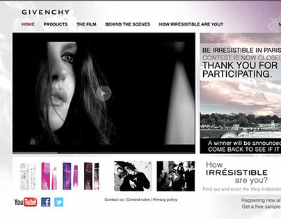 Very Irresistible Givenchy, Electric Rose Web Design
